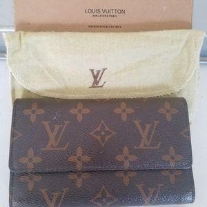 Louis Vuitton tri fold wallet monogram canvas